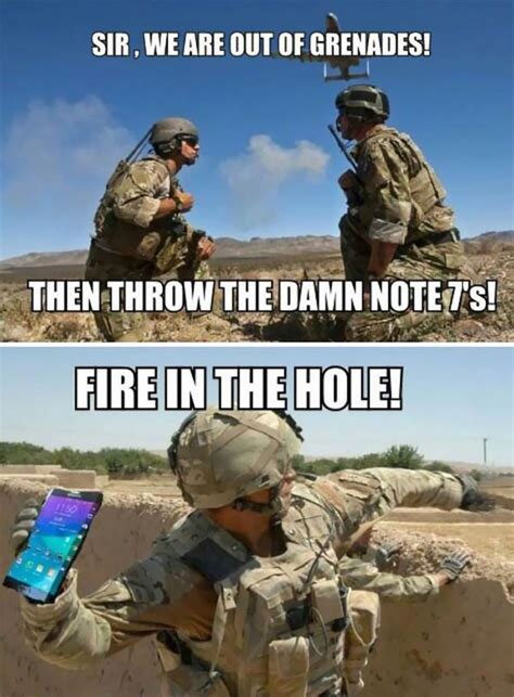 Fire In The Hole Meme - funny reactions to the exploding samsung note 7