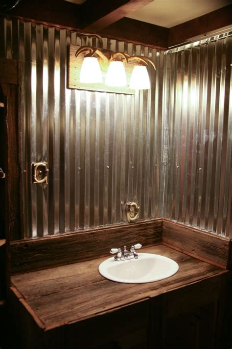 Barnwood Bathroom Ideas Bathroom Using Barn Tin And Barn Wood To Keep Everything Rustic