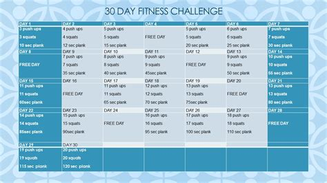 mens health challenge 30 day home fitness challenge day program