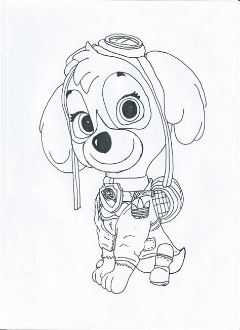 valentines day coloring pages paw patrol paw patrol skye sport outfit by pawpatrolfan66 on deviantart
