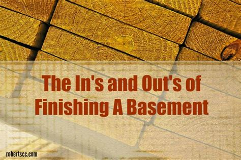 basic steps involved in finishing a basement michael
