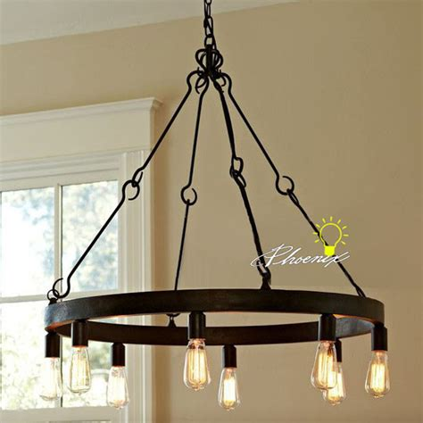 edison chandelier bulbs antique edison bulbs iron chandelier in rusted finish 7980