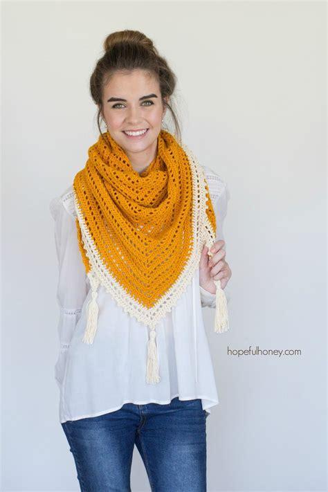 pattern triangle scarf honey bird triangle scarf free crochet pattern