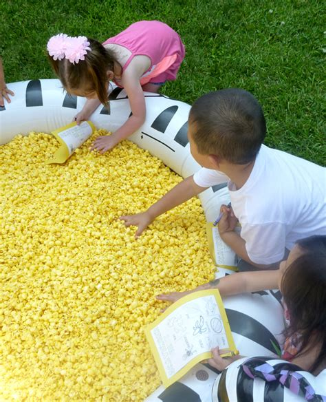 How To Pick Sheets pool of popcorn scavenger hunt for kids the popcorn