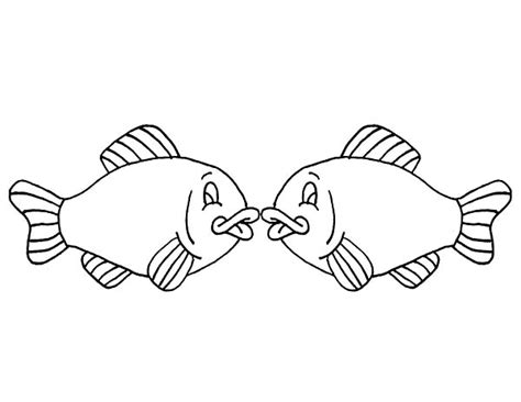 kissing fish coloring page couple of mask to wear on mardi gras coloring page