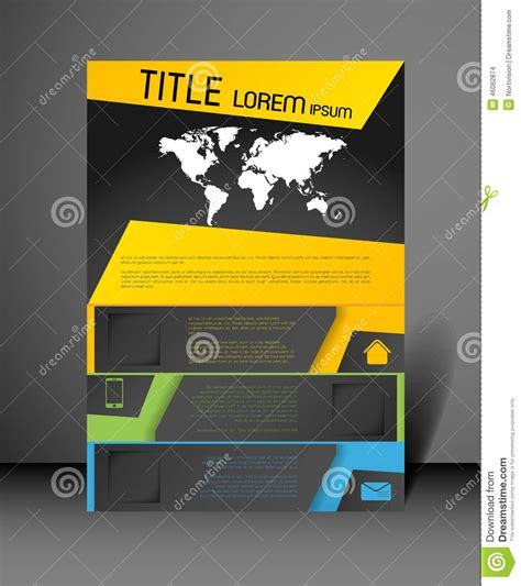 poster design template stock vector illustration of color