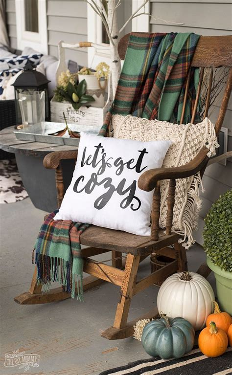 diy home diy let s get cozy pillow for fall free svg