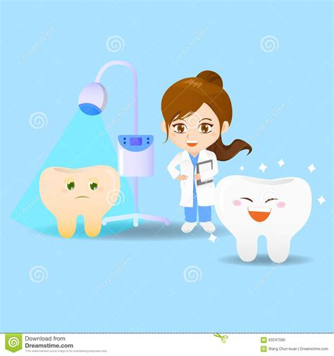 cartoon doctor dentist woman stock vector image