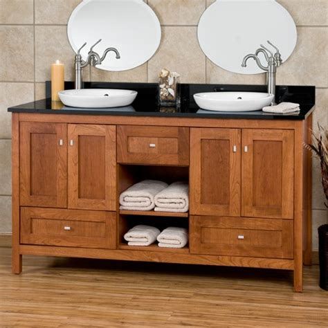 Arts And Crafts Bathroom Vanity Bath Vanity Cabinets Craftsman Shaker Vanities 60 Alcott Vanity Cabinet With Semi Recessed