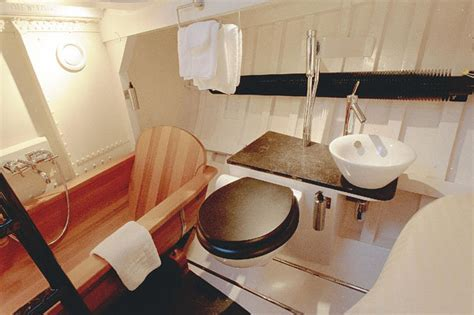 boat with bed and bathroom quirky lifeboat hotel is perfect spot for a romantic break