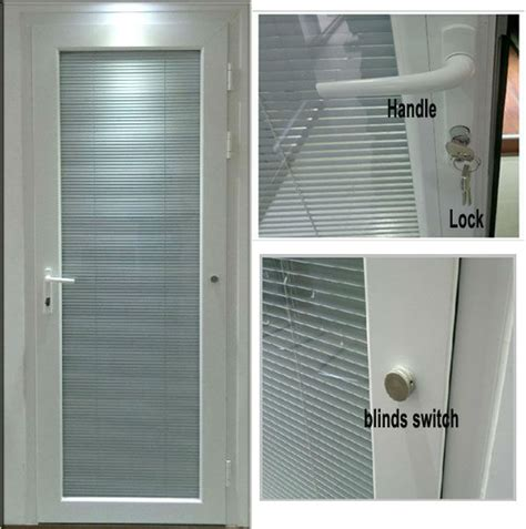 doors with blinds inside glass sendpro white color aluminium glazed door with