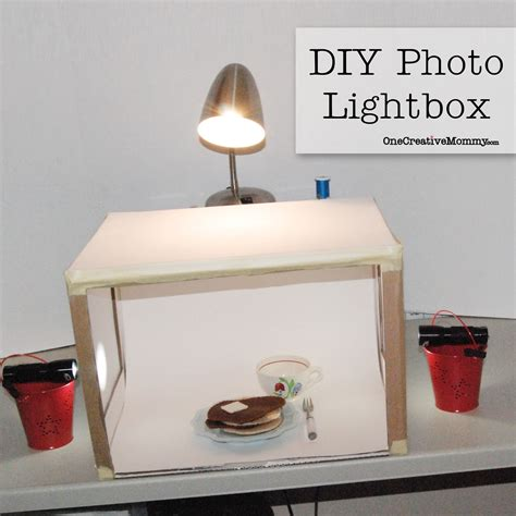Handmade Light Box - simple lightbox