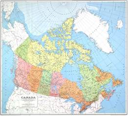 map for canada map of canada 1967