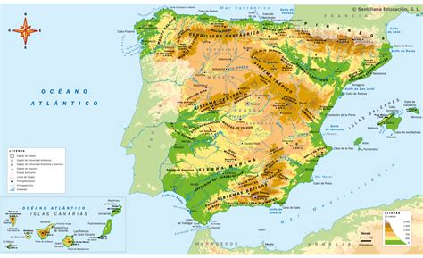 atlas de espana y el relieve interior mi clase en la nube