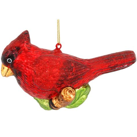 red cardinal glass ornament bronner s christmas wonderland