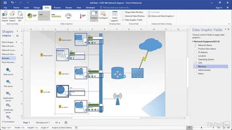 automate visio use visio 2016 import