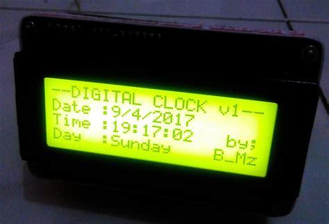 Jam Digital Lcd Mobil Dengan Thermometer Battery Voltage Monitor jam digital lcd 20 215 4 arduino arduino real time clock lcd 20 215 4 dicky b mz