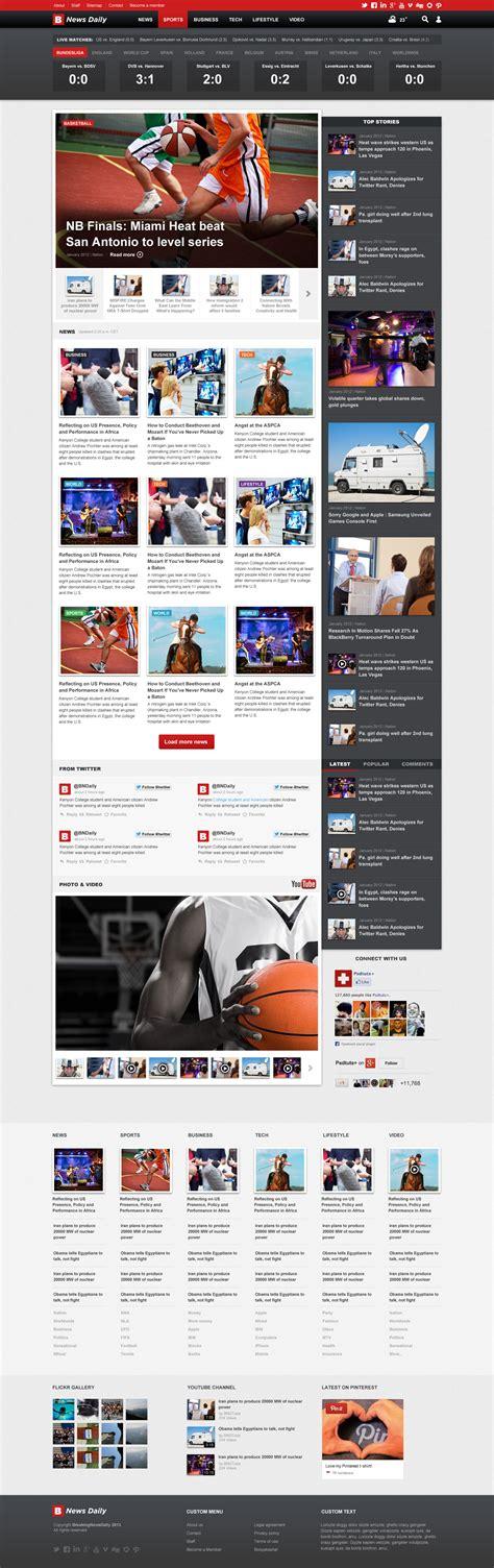 newspaper theme html5 breaking news daily newspaper magazine blog html5 by segen