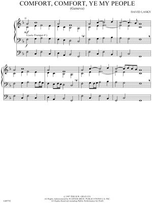 comfort ye my people david lasky quot comfort comfort ye my people quot sheet music