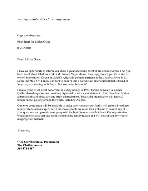Firm Pitch Letter Pitch Letter Format Letter Format 2017