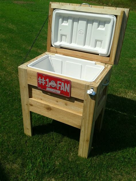 backyard cooler ana white outdoor wooden cooler diy projects