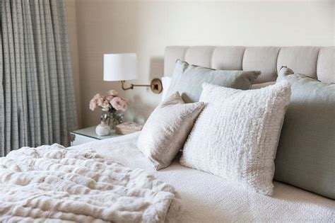 white and beige bedroom beige tufted headboard design ideas