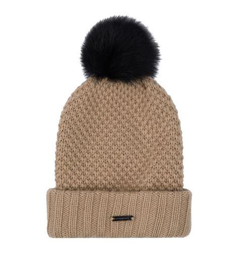 Pompom Beanie Hat burberry fur pom pom wool beanie hat in