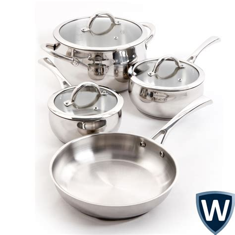 Set Supra7 Stainless oster derrick 7 stainless steel cookware set