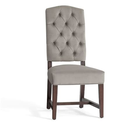 tufted dining chair ashton tufted dining chair ship pottery barn