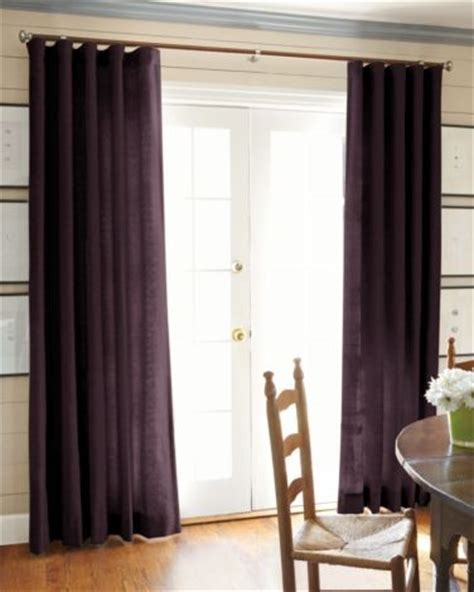 smith and noble drapes linen eggplant 9456 smith and noble curtains for