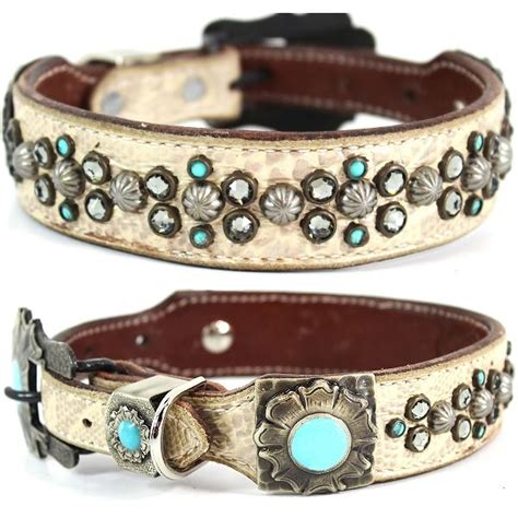 western collars western leather collar studded marley