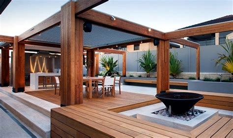 Wooden Patio Designs 20 Beautiful Backyard Wooden Patio Ideas
