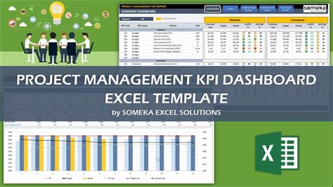 Project Management Kpi Dashboard Ready To Use Excel Template Project Management Kpi Template Excel