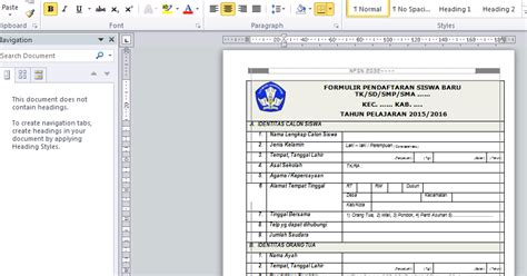pendaftaran cpns guru sd sleman 2015 2016 contoh formulir pendaftaran siswa baru untuk ra tk sd mi