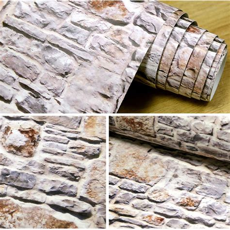 pattern making paper rolls wholesale 2017 deep vintage 3d brick wall paper modern brick stone