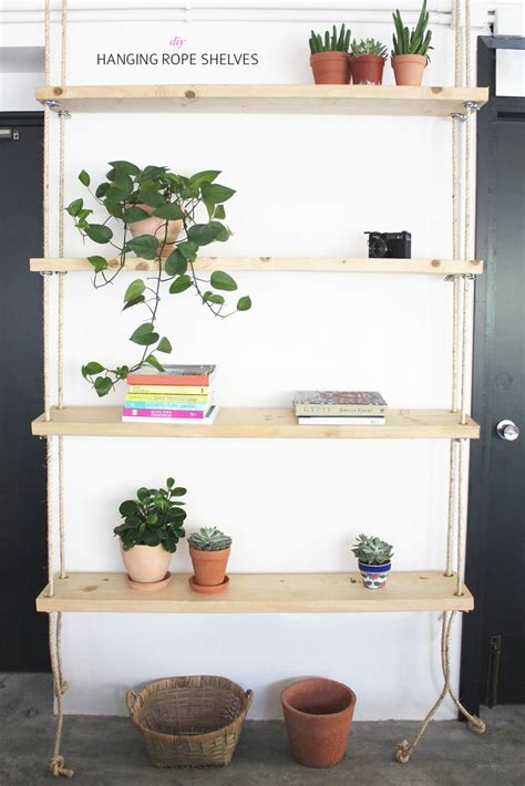 diy hanging rope shelves a pair a spare