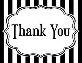 7 best images of black and white thank you cards printable black and white thank you card