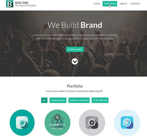 free one page website templates 206 free css