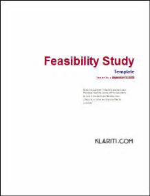 feasibility study template free feasibility study template instant