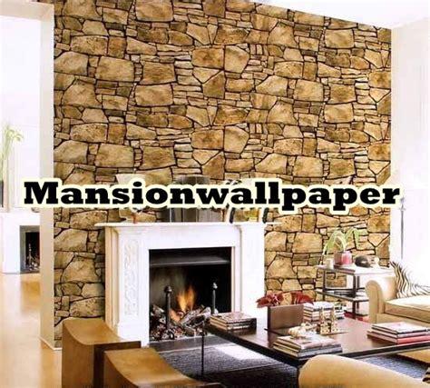wallpaper alam 3d jual wallpaper dinding batu alam 3d roll besar mansion