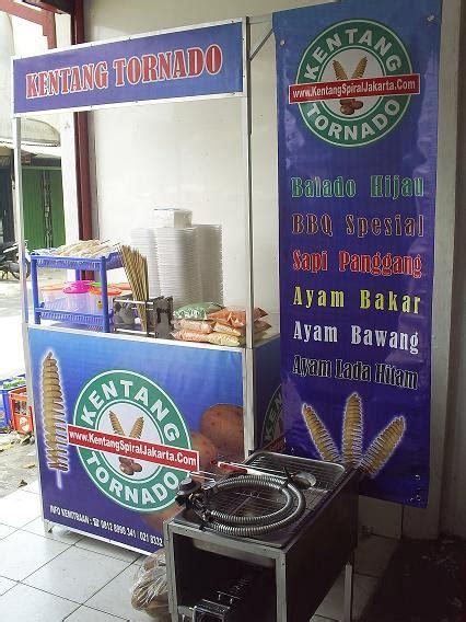Pot Plastik Paket Usaha 100 Pcs kentang ulir tornado peluang usaha modal kecil