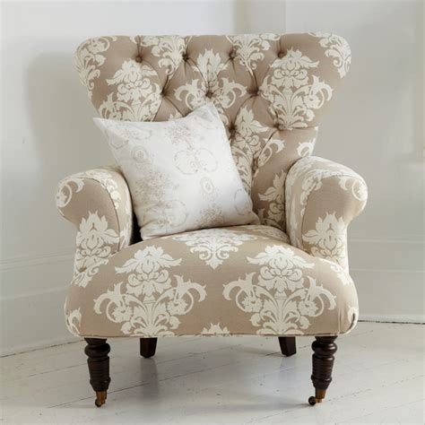 patterned armchairs button back cream patterned armchair farmhouse armchairs and accent chairs london by