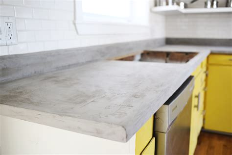Building Kitchen Countertops by Concrete Countertop Diy A Beautiful Mess
