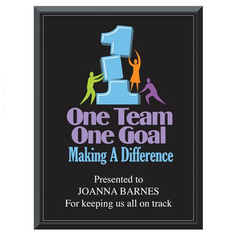 team  goal making  difference    inspirational award plaque positive promotions