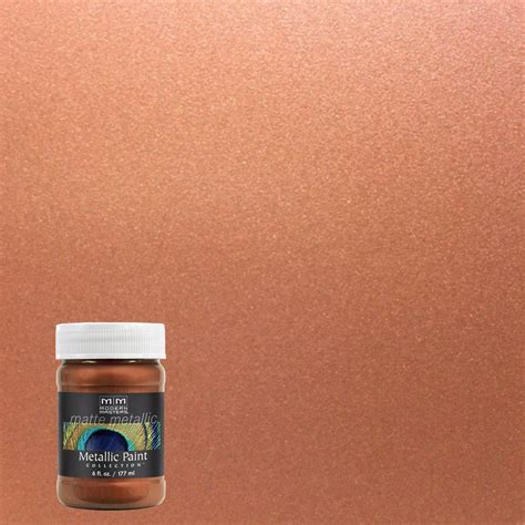 Interior Metal Paint by Modern Masters 6 Oz Copper Matte Metallic Interior