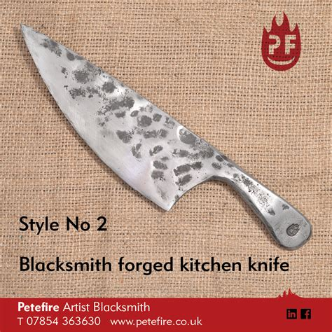 best forged kitchen knives petefire blacksmith hand forged kitchen knife phone 01923