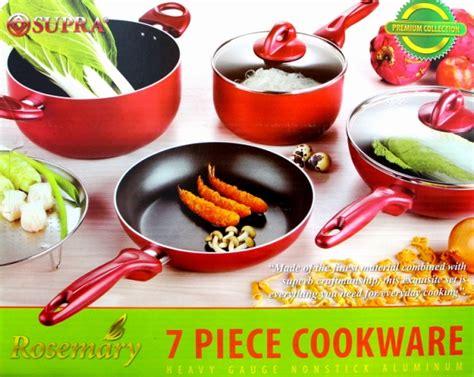 Panci Rosemary grosir panci stainless steel supra 7 set peralatan masak