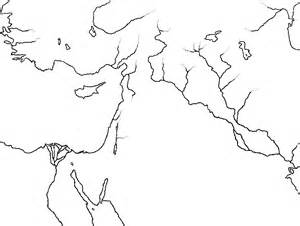 Blank Bible Maps by The Ancient Near East Showing The Travels Of Abraham 2nd