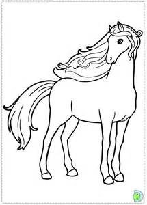 Barbie Pony Coloring Sheet Pages