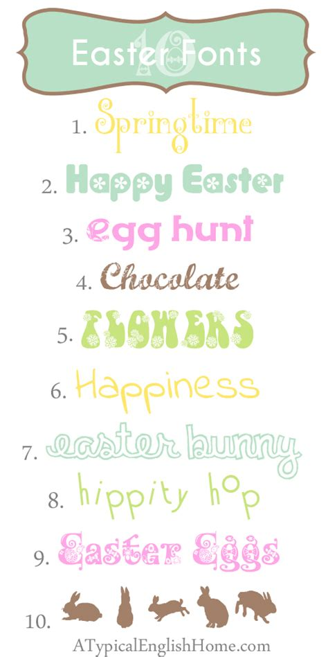 printable easter fonts a typical english home best free easter fonts